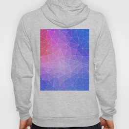 Abstract Colorful Flashy Geometric Triangulate Design Hoody