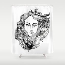 Venice on my mind Shower Curtain