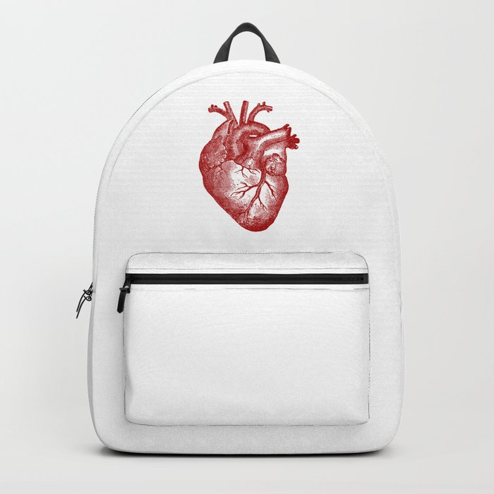 Vintage Heart Anatomy Backpack By Stilleskyggerart Society6