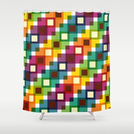 Geometric Pattern 11 (Colorful squares) Shower Curtain