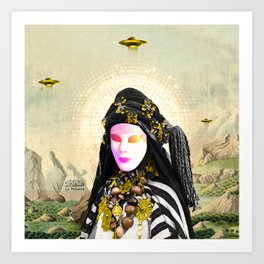 Khadra & the Occupier Art Print
