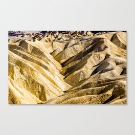 Zabriskie Point. Death Valley National Park. California. USA. Canvas Print