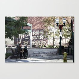Holiday Busker Canvas Print