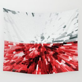 Extruded flag of Poland Wall Tapestry