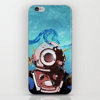 diver iPhone & iPod Skins featuring Diver by Tony Vazquez