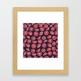Blood Oranges- Plum Framed Art Print