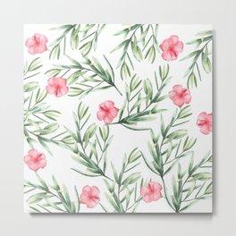 Delicate Hibiscus Metal Print