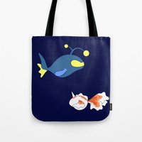 finding nemo Tote Bags featuring Nemo, I choose you! by Mariotaro