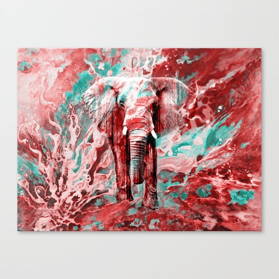 Elephant's Noisy Cries Canvas Print