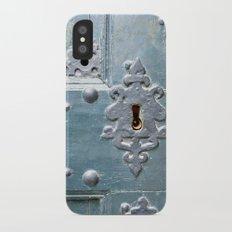 Old lock iPhone X Slim Case