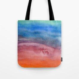 Rainbow Watercolor Texture Tote Bag