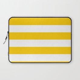 Yellow Stripes Pattern Laptop Sleeve
