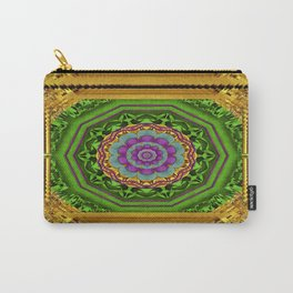 Lotus Pond In Gold Pattern Carry-All Pouch