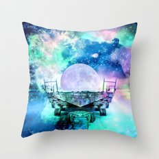 fantasy moon Throw Pillow