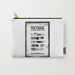 Black Brush - Star May the force be with you always Wars Carry-All Pouch
