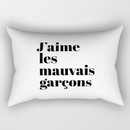 J'AIME LES MAUVAIS GARÇONS I LIKE BAD BOYS Rectangular Pillow