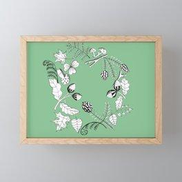 Forest Wreath Framed Mini Art Print