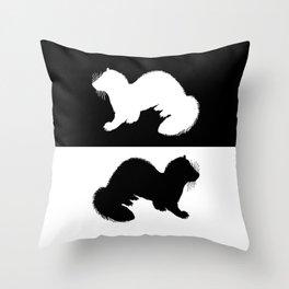 European Polecat Throw Pillow