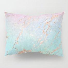 Rainbow Glamour Marble Texture Pillow Sham
