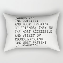 Charles William Eliot quote Rectangular Pillow