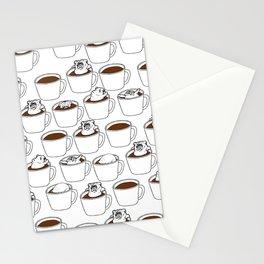 More Coffee English Bulldog Stationery Cards