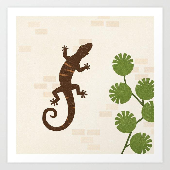 L is for Lizard Art Print