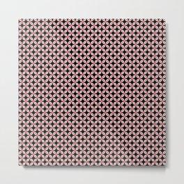 Pink Black Star Pattern Metal Print