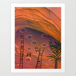 Ancestral Memories, Caves Art Print
