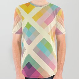 Retro Rainbow All Over Graphic Tee