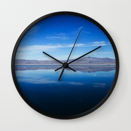 into the blue Wall Clock