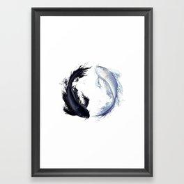 Yin Yang Carps Framed Art Print