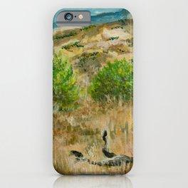 Boise Idaho foothills painting iPhone Case