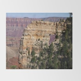 Angel's Window At Cape Royal Grand Canyon Throw Blanket