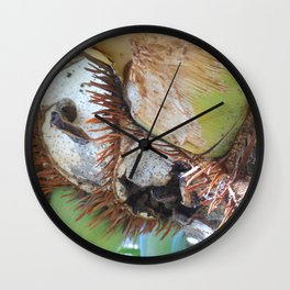 Wink, tropical plant study Wall Clock
