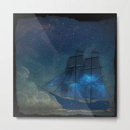 Ships and Stars Metal Print