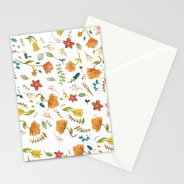 Floral Watercolor Pattern | Simply Summer Stationery Cards