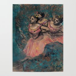 Three Dancers in Red Costume Poster
