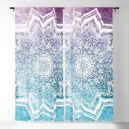 SUMMER BLUEISH MANDALA Blackout Curtain