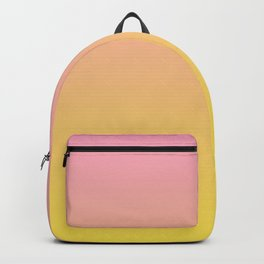 Gradient Blend Pantone 2021 Color of the Year Illuminating 13-0647 Yellow and Prism Pink 14-2311 Backpack