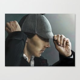 Sherlock and his deerstalker Canvas Print