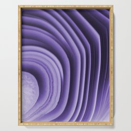 Violet agate folds Serving Tray