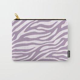 Purple Zebra Animal Print Carry-All Pouch