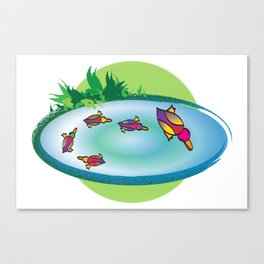 Lucky Ducks Canvas Print