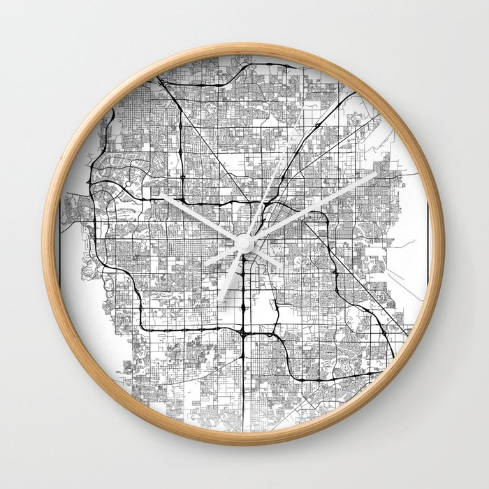Minimal City Maps - Map Of Las Vegas, Nevada, United States Wall Clock by  valsymot