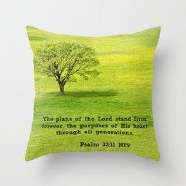 Psalm 33:11 Throw Pillow