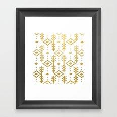 GOLD NORDIC Framed Art Print