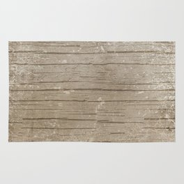 Nautical Driftwood Wood Grain Pattern Rug