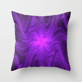 Dripping Pink Throw Pillow