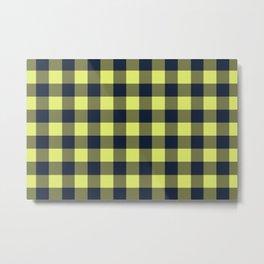 Yellow Lumberjack Metal Print