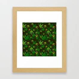 Cannabic camo Framed Art Print
